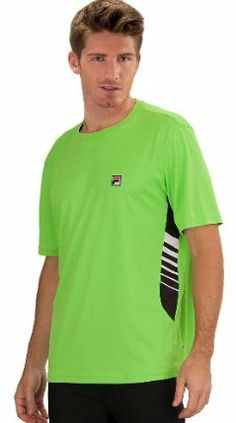 Fila Tennis Men's Collezione Side Stripe Crew Neck Top by Fila. $42.95. Fila printed neck tape. F box patch logo. 100% Polyester. Printed stripes on inserts. From the Manufacturer                With just a little touch of extra style, this shirt goes a long way to making you look and play your best.                                    Product Description                With just a little touch of extra style, this shirt goes a long way to making you look and play your best!