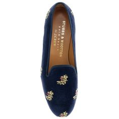 Stubbs & Wootton® For J.Crew Classic Velvet Slippers ($400) ❤ liked on Polyvore