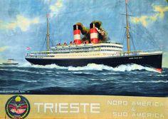 Postcard advertising the Kaiser Franz Josef I. Istanbul, Carnival Corporation, Franz Josef I, Austrian Empire, European American, Austro Hungarian, Ellis Island, Trieste, World War I