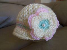 New Handmade Crochet Baby Girl Hat Pink and by Blesslittleangel