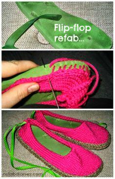 Upcycle: Old Flip-Flops... new Slippers |Gunadesign Handmade Design Barn