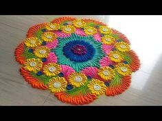 How to make easy and simple/unique border rangoli designs by Jyoti Rathod,rangoli,festival rangoli d Rangoli Designs Latest, Rangoli Designs Flower, Latest Rangoli, Colorful Rangoli Designs, Rangoli Designs Diwali, Diwali Rangoli, Flower Rangoli, Beautiful Rangoli Designs, Kolam Designs