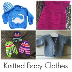 Roundup: 10 knitting patterns for baby clothes, curated by The Feisty Redhead for Craftsy