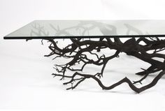 Sebastian Errazuriz's one-of-a-kind shelving unit called Bilbao proves that inspiration can come from simply stepping outside your front door. Created using a found tree branch, the artist retrieved the fallen limb from a Santiago street and took it back to his workshop. There, he twisted, turned, and readapted it, allowing the giant branch to hug a flat wall and live its new life as an unconventional shelf. The natural shape of the tree dictated a majority of Errazuriz's design choices, but…