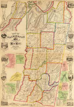 1853 Map of Washington County New York