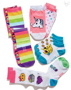 Keep those toes happy all night long in our cutest-ever emoji socks!
