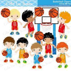 Imágenes Prediseñadas de baloncesto / fiesta de por CeliaLauDesigns