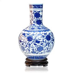 handmade blue white Modern Decoration Vase