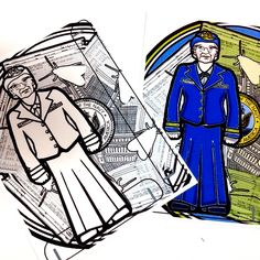 Grace Hopper Printable Coloring Page Paper Doll with stand by PaperTownToys on…
