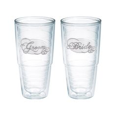 """Tervis """"Bride and Groom"""" Assorted Tumbler, 16-Ounce, Silver, 2-Pack Tervis http://www.amazon.com/dp/B00J03KJMM/ref=cm_sw_r_pi_dp_V86Ltb0F05YEB31Q"""