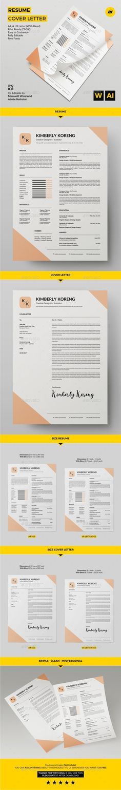 2 Pages Modern Resume\/CV Set Modern, Resume and Stationery - styles of resumes