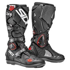 Sidi Crossfire 2 SRS Enduro Motocross Off Road Boots - Black / White Forma Adventure, Offroad, Adventure Boots, Motocross Gear, Crossfire, Riding Gear, Body Armor, Motorcycle Boots, Motorcycle Equipment