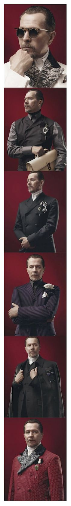 Gary Oldman for Prada, 2012. Despot chic! And, yes. I bloody well would!