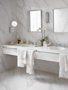 AuBergewohnlich Design Handwaschbecken Badezimmer Weiss Marmor Doppelwaschtisch #badezimmer  #bathroom #ideas
