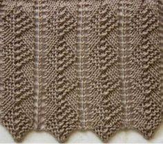 Model de tricotat sir romburi