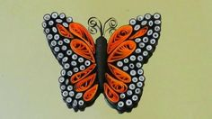 DIY crafts: quilling & ohp  Paper BUTTERFLIES (very EASY)
