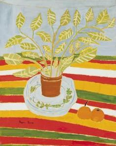 Bryan Pearce - Plant, Oranges And Striped Cloth