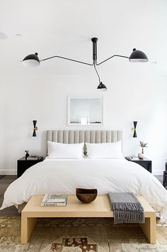 This composed contemporary bedroom by JDP Interiors is modern and eclectic. We created it for less! modern eclectic bedroom for less copycatchic luxe living for less budget home decor and design daily finds and room redos Modern Bedroom Design, Contemporary Bedroom, Bedroom Designs, Home Design, Design Design, Home Interior, Interior Design, Contemporary Interior, Contemporary Architecture