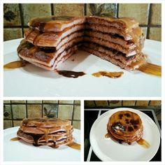 das war mein heutiges Frühstück bestehend aus Himbeeren #Pancakes mit den #Waldenfarms Caramel, Schokolade und Pancake Soßen/Syrup ... sooo lecker. Das Review zu den Walden Farms Produkten in kürze in meinem Blog #tacosfitnessblog #abnehmen #gesund #proteinreich #weightlossjourney #dessert #pfannkuchen