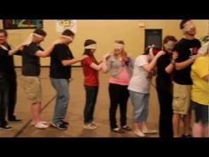 Snakes - A Trust and Team Building Activity that uses non-verbal communication to get a team to accomplish a goal.