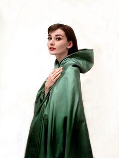 Happy #StPatricksDay! Audrey Hepburn photographed by Bud Fraker for publicity of Funny Face, 1956