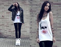 Batoko Shirt, Black Milk Clothing Leggings