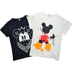 Boys Girls Summer T shirts Splash Mouse Print Children Tops Cotton Shirts Baby Tees Clothing 2018 Kids Cartoon T shirts Clothes //Price: $17.64 //     #fashionkids