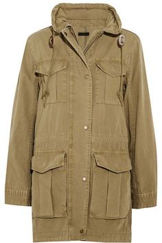 J.Crew - Fatigue Hooded Cotton-canvas Jacket - Army green - xx small