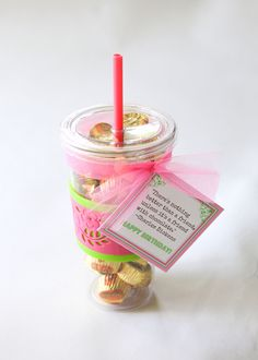 Chocolate Filled Insulated Tumbler Gift and Printable - along with over 100 cheap gift ideas.