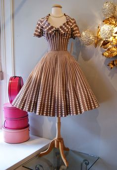 Vintage 1950's Dress // 50's Classic Polka Dot by xtabayvintage, $298.00