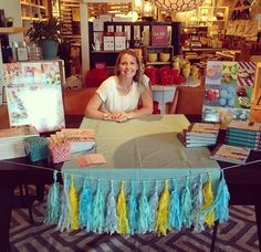Book signing table idea