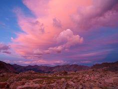 Weminuche Sunset in the Weminuche Wilderness - Colorado by Jack Brauer