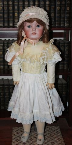 Antique Huge Kestner 31 inch Girl Doll #1214 from camelot-pc-rl on Ruby Lane