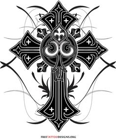 Cross Tattoo Designs | 50 Cross Tattoos | Tattoo Designs of Holy Christian, Celtic and Tribal ...
