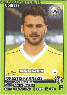 Calciatori 2014-2015: Fronte Figurina n. 498 Orestis Karnezis
