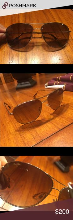 Maui Jim beach babe leopard print aviators Good condition. Minor signs of wear are so small and hard to capture in pictures! Maui Jim Accessories Sunglasses