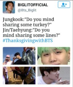 HAHAHAHA , I love these #thanksgivingwithbts memes ❤️❤️❤️❤️ they just keep cracking me up