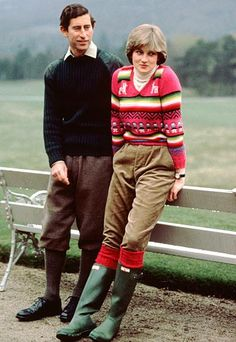 In a patterned sweater and wellies, 1981