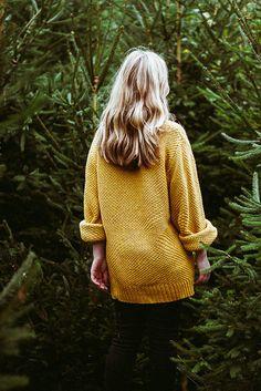 Knit yellow sweater