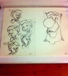 Pinocchio Expression sketches