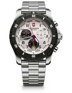 Victorinox Swiss Army Mens Maverick Sport Chronograph - White Dial - Bracelet