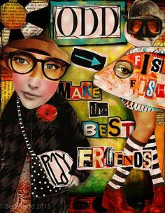 'Odd Fish Make the Best Friends' © Beth Todd 2015 - All Rights Reserved Created with Crowabout StudioB's 'Going Postal' kit http://www.mischiefcircus.com/shop/product.php?productid=23051&cat=&page=