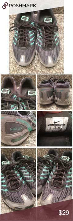 NIKE Air Max TORCH 4 343851-030 running shoes 10 Great used running shoes in sz 10, gray and green, good used condition! Happy poshing friends! Nike Shoes Athletic Shoes