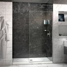The DreamLine Linea collection of walk-in shower panels is a welcome addition to any contemporary bathroom. The Linea is elegant and functional, giving the entire shower space a sense of high-end luxu