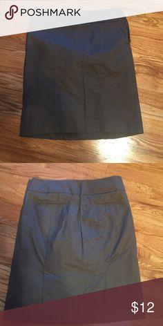 Skirt Mushroom color, cotton 2 slits up back LOFT Skirts