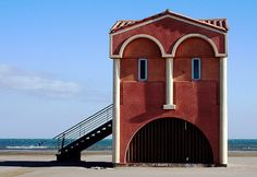 Just Face to the Sea...by Francesca Birini  the letter m building