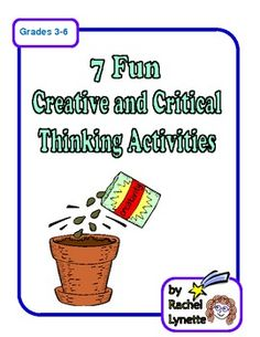 FREE 7 Ready to Use Higher Level Thinking Activities! Perfect for after testing enrichment