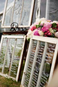 vintage place card display wedding - Google Search