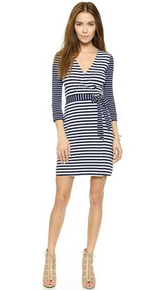 Diane von Furstenberg New Julian Two Mini Wrap Dress