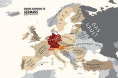 Europe According to Germany Print